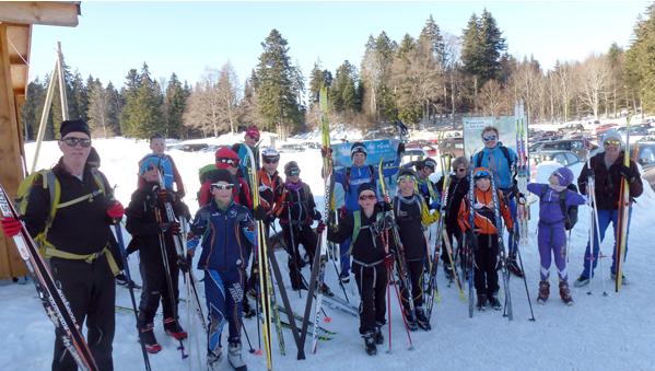 Des jeunes de Haute-Savoie Nordic dans le Jura